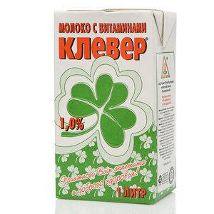 Молоко с витаминами ультрапастеризованное 1,0% ТМ Клевер