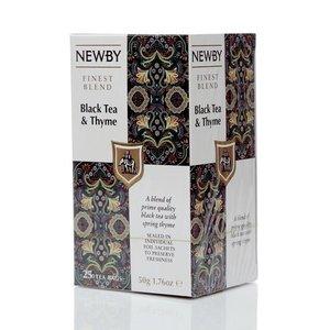 Чай черный с чабрецом ТМ Ньюби, 25 пакетиков