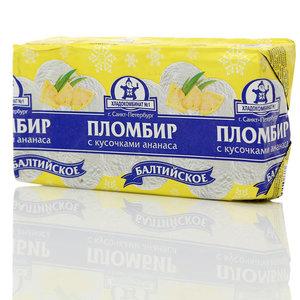 Пломбир классический с кусочками ананаса ТМ Хладокомбинат №1
