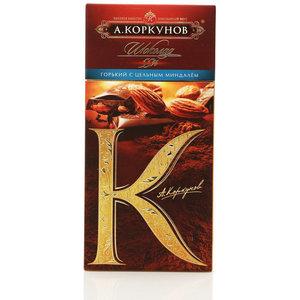 Горький шоколад с цельным миндалем ТМ А.Коркунов