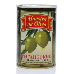 Оливки гигантские с косточкой ТМ Maestro de Oliva (Маэстро де Олива)