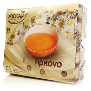 Яйцо куриное столовые пищевые С1 Яркоvo ТМ Роскар, 25 шт.