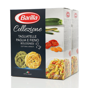 Макароны Тальятелле двух видов, со шпинатом ТМ Barilla (Барилла), 2*500г