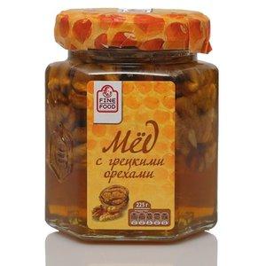Мед натуральный цветочный с грецкими орехами ТМ Fine Food (Файн Фуд)