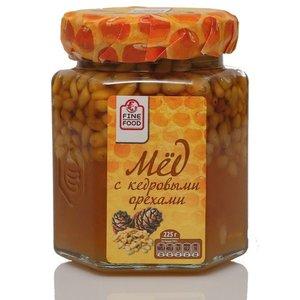 Мед натуральный цветочный с кедровыми орехами ТМ Fine Food (Файн Фуд)