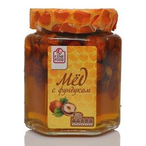 Мед натуральный цветочный с фундуком ТМ Fine Food (Файн Фуд)
