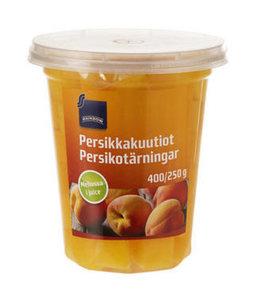 Кубики персика в виноградном соке ТМ Rainbow (Рейнбоу)
