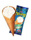 Мороженое пломбир в вафельном сахарном рожке ТМ Гигантер