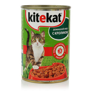Корм для взрослых кошек домашний обед с кроликом ТМ Kitekat (Китекат)