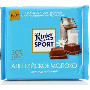 Шоколад молочный с альпийским молоком ТМ Ritter Sport (Риттер спорт)