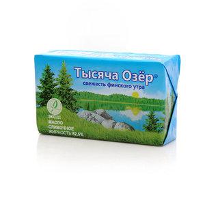 Масло сладкосливочное несоленое 82,5% ТМ Тысяча озер