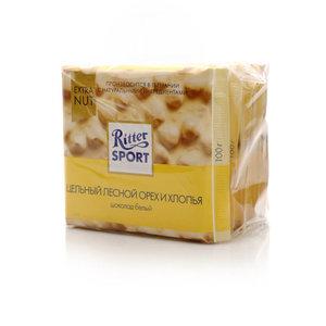 Шоколад белый с цельным орехом и хлопьями 5*100г ТМ Ritter Sport (Риттер спорт)