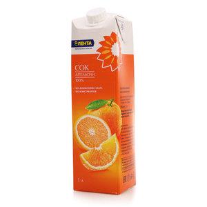 Сок апельсиновый восстановленный ТМ Лента