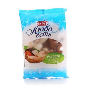 Ассорти из морепродуктов сыро-мороженных Любо есть ТМ Vici (Вичи)