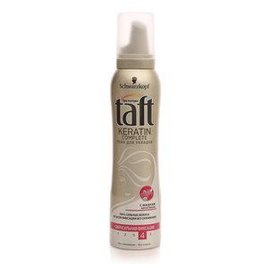 Пена для укладки Keratin complete сверхильная фиксация ТМ Taft (Тафт)