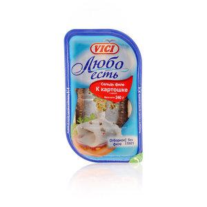 Сельдь филе к картошке в масле Любо есть ТМ Vici (Вичи)