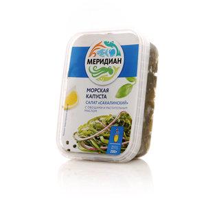 """Морская капуста Салат """"Сахалинский"""" с овощами и растительным маслом ТМ Меридиан"""