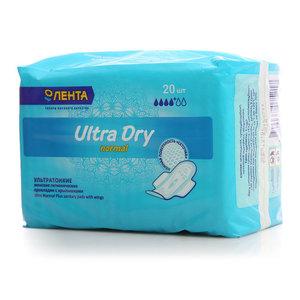 Прокладки гигиенические с крылышками Ultra Dry normal 4+ ТМ Лента