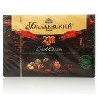 Шоколадные конфеты с начинкой цельный фундук и ореховый крем в темном шоколаде ТМ Бабаевский