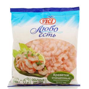 Креветки очищенные варено-мороженые Любо Есть 200/300 ТМ Vici (Вичи)