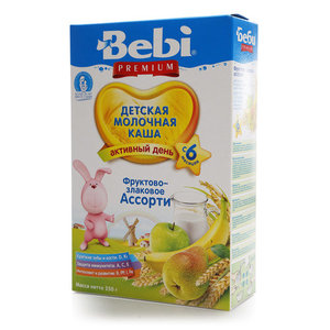 Каша молочная ТМ Bebi Premium (Бэби Премиум) фруктово-злаковое ассорти