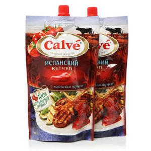 Кетчуп испанский с кайенским перцем ТМ Calve (Кальве), 2*350г