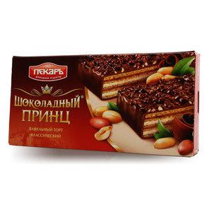 Торт вафельный в шоколадной глазури Шоколадный Принц ТМ Пекарь