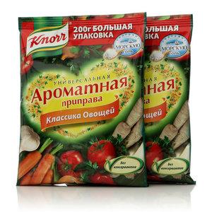 Ароматная приправа классика овощей универсальная, 2*200г. Сухая смесь ТМ Knorr (Кнорр)