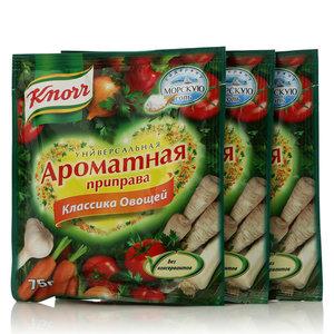 Ароматная приправа классика овощей универсальная, 3*75г, сухая смесь ТМ Knorr (Кнорр)