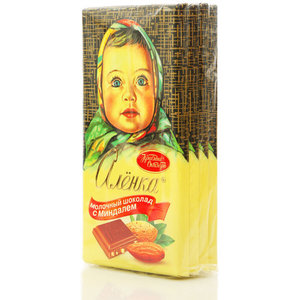 Шоколад молочный Аленка с миндалём 4*100г ТМ Красный Октябрь