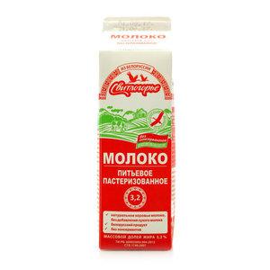 Молоко питьевое пастеризованное 3,2% ТМ Свитлогорье