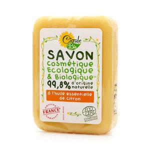 Мыло твердое с эфирным маслом Лимона ТМ Cigale Bio (Сигаль Био)