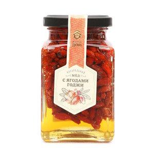 Мед натуральный с ягодами годжи ТМ Медовый дом