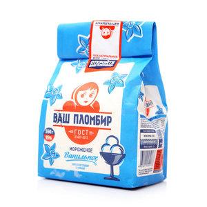 Мороженое ванильное ТМ Ваш Пломбир