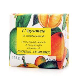 Мыло растительное с с ароматом грейпфрут-кедр ТМ Iteritalia (Итериталиа)