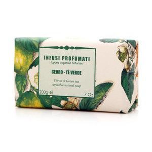 Мыло натуральное с цитроном и зеленым чаем ТМ Iteritalia (Итериталиа)
