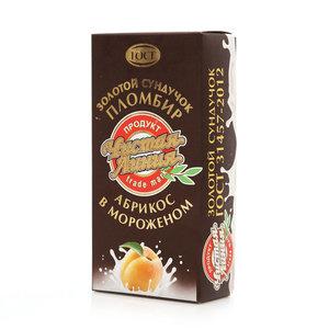 Золотой сундучок пломбир абрикос в мороженом ТМ Чистая линия