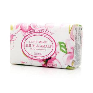 Мыло натуральное косметическое с оливковым маслом, аромат лилия амальфи ТМ Iteritalia (Итериталиа)