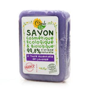 Мыло твердое с эфирным маслом Лаванды ТМ Cigale Bio (Сигаль Био)