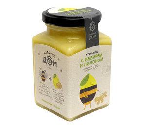 Крем-мед натуральный цветочный имбирь/лимон ТМ Медовый Дом