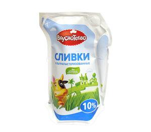 Сливки питьевые ультрапаст.20% ТМ Вкуснотеево