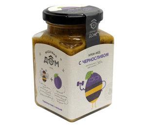 Крем-мед натуральный цветочный с черносливом ТМ Медовый Дом