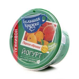 Йогурт персик-абрикос ТМ Большая Кружка