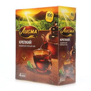 Чай черный Индийский Крепкий ТМ Лисма, 100 пакетиков