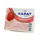 Творожок фруктовый с клубникой 15% ТМ Карат