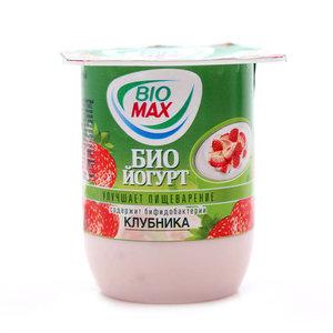 Био Йогурт клубника ТМ Bio Max (Био Макс)