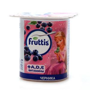 Продукт йогуртный Герои Disney с Черникой и витаминами А,D,Е 2,5% ТМ Fruttis (Фруттис)