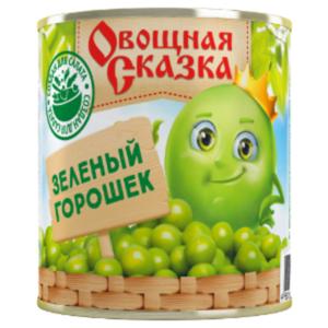 Горошек зеленый консервированный ТМ Овощная сказка