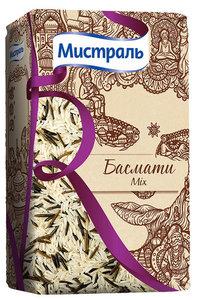 Рис Басмати Mix смесь белого ароматного и дикого риса ТМ Мистраль