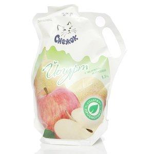 Йогурт питьевой с яблоком и грушей 1,5% ТМ Снежок